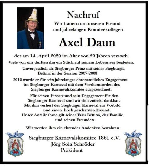 Axel-daun-nachruf
